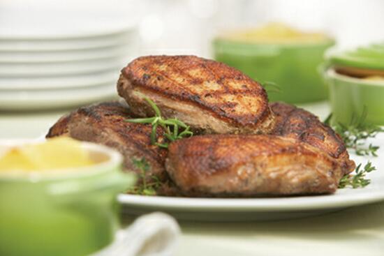 Seasoned Boneless Duck Breast with Scalloped Potatoes