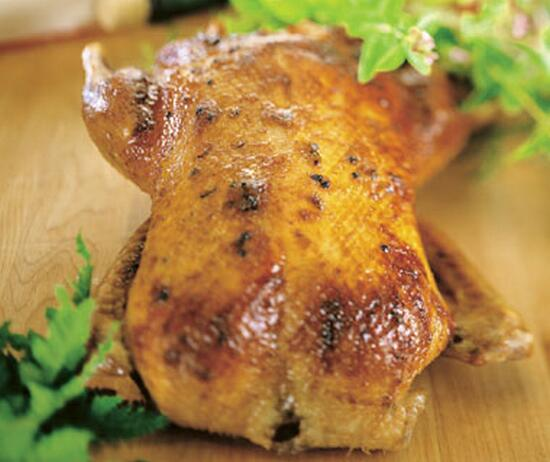 Roasted Duck with Apple and Ginger