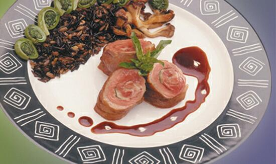 Breast of Duck with Sliced Smoked Duck